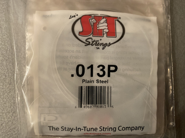 SIT .013 single strings for use on lap or pedal steel