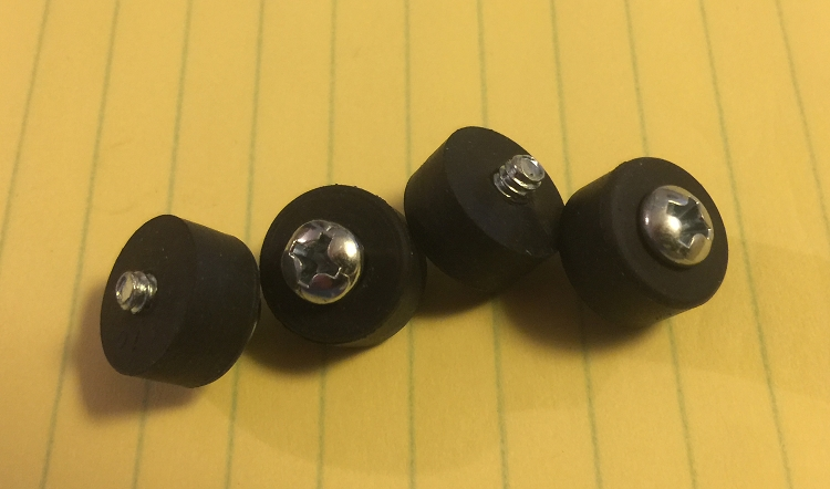 4 replacement rubber feet for all Hilton Volume Pedals