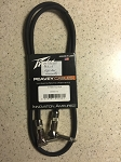 Peavey 3 ft instrument/patch cable with limited lifetime warranty