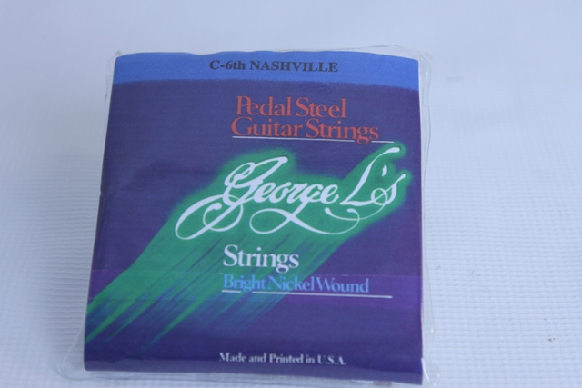 1 set of 10 strings for C6th neck on pedal steel, bright nickel wound